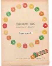 1958 Life Savers Candy Five Flavors Holesome-est art Vtg Print Ad