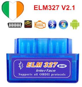 ELM327 Bluetooth V2.1 Auto Scansione del codice di errore Android strumento OBD2