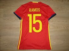 # 15 RAMOS SPAIN 2016-17 HOME WOMAN SHIRT ADIDAS SIZE M