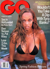 Tyra Banks Cover GQ Magazine 1996  First & Last Swimsuit Cover Sex In Hollywood