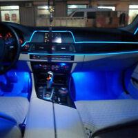 Universal Auto Car LED Interior Decorative Wire Strip Atmosphere Cold Blue.Light