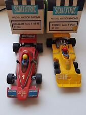 scalextric exin TYRRELL P-34 and BRABHAM BT-46 + cajas  lote años / year 70