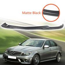 GH Bumper Lip Spoiler Matte Black For Mercedes BENZ C63 W204 08-11 Sedan