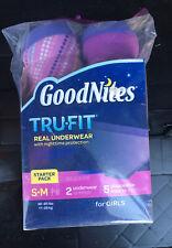 GoodNites TruFit Real Underwear GIRLS S-M Starter New In Pack