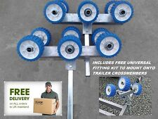 Trailer Rollers Set Of Six PAIR - Boat - Universal - Galvanised - COMPLETE KIT
