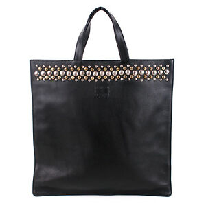 100% Authentic Loewe Studded Leather Tote Bag Shopper