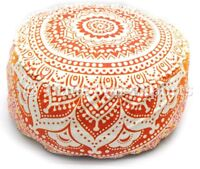 Large Mandala Seating Ottoman Pouf Cover Footstool Pouffe Case Round Bean Bag
