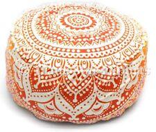 GRANDE Mandala a sedere Pouf Ottoman Pouf Poggiapiedi Copertura Case Custodia tondo DI COTONE