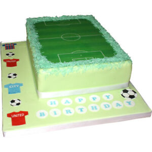 Football pitche EDIBLE cake decoration printed on A4 quality wafer card
