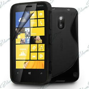 Case Black Case TPU S Silicone Gel Pattern S Wave Films Nokia Lumia 620