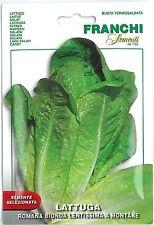 Franchi Seeds Lettuce Lattuga Romana Bionda Lentissima a Montare seed