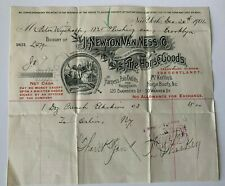 1901 Billhead New York City J Newton Van Ness Co Fine Horse Goods Chambers St