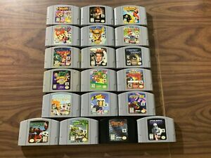 Nintendo 64, N64 LOT: Mario + Banjo + Smash + Turok + Starfox + 007 + Party +