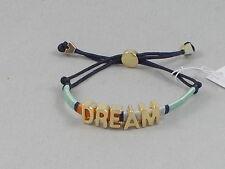 BCBG Generation Goldtone PREP TALK Thread Wrap DREAM Pulley Bracelet $20