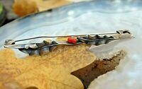 uralte brosche mistelzweig silber 835 koralle um 1900 mistletoe brooch