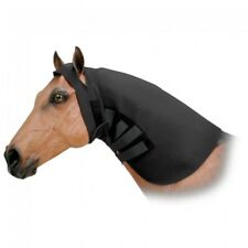 FULL HEAD AND NECK SWEAT BLACK NEOPRENE NEW HORSE SIZE TACK EQUINE