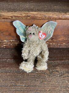 1993 Ty Attic Treasures Rafaella Bear Wings Jointed Stuffed Animal Toy Hang Tag
