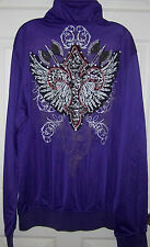 NEW ~ FLEUR DE LIS, WINGS AND BATTLE AXE JACKET ~ NEW ~ SIZE XL