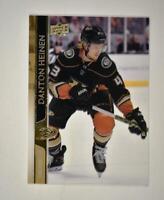 2020-21 UD Series 1 Clear Cut Exclusives #2 Danton Heinen - Anaheim Ducks