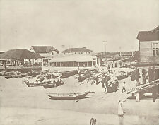 "NEWPORT BEACH Doryman's Fish Market Boats VINTAGE Photo Print 964 11"" x 14"""