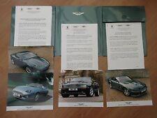 Aston Martin London Motor Show 1999 Press Pack V8 Coupe DB7 V8 Vantage Le Mans