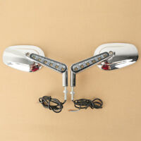 Rear View Mirrors Muscle LED Turn Signals Light Fit For Harley V-ROD VRSCF 09-17