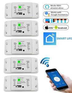 5 STÜCKE | Wifi WLAN Switch Smart Schalter für Alexa APP-Steuerung 2200W