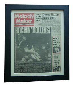 BAY CITY ROLLERS+MELODY MAKER 1975+RARE ORIGINAL+POSTER+FRAMED+FAST GLOBAL SHIP