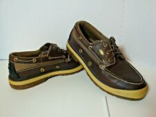 Red Wing Irish Setter Angler Boat Shoes Dark Brown Leather Loafer Men's Size 10M