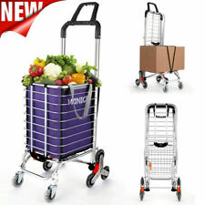 Folding Shopping Carts Heavy Duty Stair Climber Hand Truck Dolly Trolley Baskets