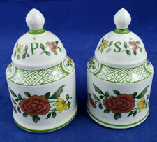 """Villeroy & Boch Summerday Salt & Pepper Shakers, 3¼"""" with Stoppers"""