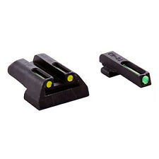 Truglo TG131GT2Y Brite-Site TFO Fiber Optic For Glock High Fixed Green/Yellow