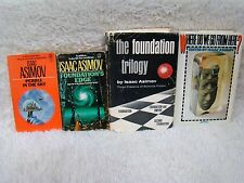Lot of 4 Isaac Asimov Books, 2 Pb/2 Hb, Pebble in the Sky, Foundation's Edge...