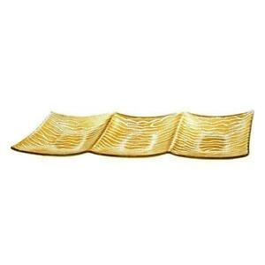 Wave Design 16-inch Gold Plated Serving Tray