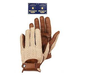 Man Driving Glove Brown Deerskin Leather Crochet Top