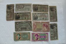 US Military Payment Certificates (MPCs)11 total, 1946-65, 5C/10C/1$, Ser 461-641