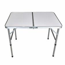 Aluminium Campingtisch 'Bergen' 90x60x70cm Klapptisch Aluminiumtisch Gartentisch