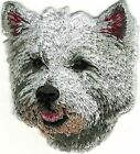 Grey Gray West Highland White Terrier Embroidered Patch