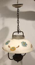 Vintage Victorian Union Art Deco Ceiling Light Art Deco Shade Hand Painted!!!