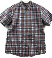 Patagonia Mens XXL 2XL Short Sleeve Plaid Button Front Shirt