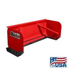 8 Red Skid Steer Snow Pusher Boxbobcatkubotaquick Attachfree Shipping