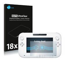 18x Displayschutzfolie Nintendo Wii U GamePad (Controller) Schutzfolie Klar