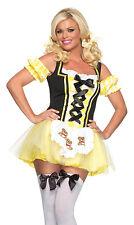 Lil' Miss Goldilocks Costume, Leg Avenue 83636, Adult Women's Size XS, S/M, M/L