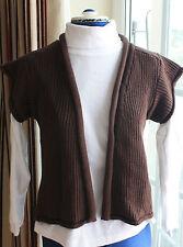 La Redoute Brown cotton waistcoat cap sleeve size 10 to 12 waist length