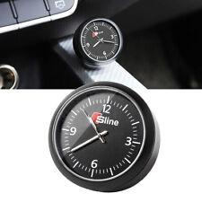 S Line Black Vehicle Car Auto Dash Quartz Clock Interior Luminous Ornament