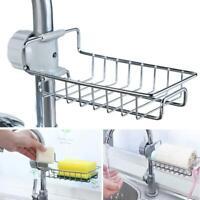 Adjustable Stainless Steel Sink Storage Hanging Basket Faucet Shelf Sponge Drain