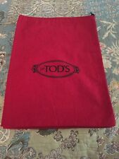"""*TOD'S Storage Bag, Dust Bag Sleeper Travel 15"""" By 11"""" Red New"""