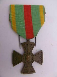 Belle médaille Croix du Combattant Volontaire Guerre 1914-1918 french medal WW1