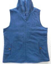 WOMENS dusky blue fleece VEST sleeveless JACKET = LANDS END = 18 20 XL = wh84