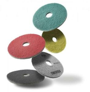 """HTC Twister Diamond Floor Cleaning Pads - White Green Yellow - 13"""" 14"""" 15"""" 27"""""""